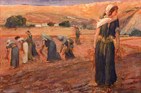Ruth Gleaning by Tissot